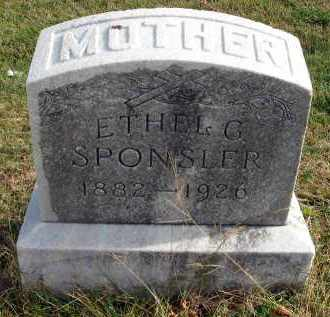 SPONSLER, ETHEL G. - Franklin County, Ohio | ETHEL G. SPONSLER - Ohio Gravestone Photos