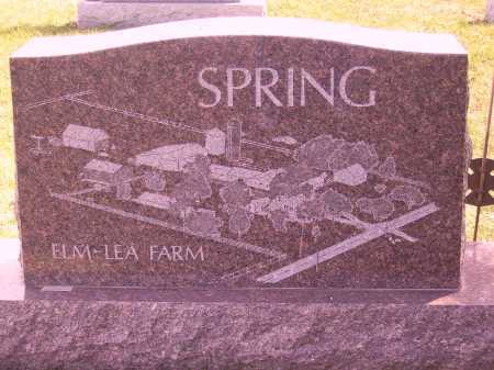 SPRING, ELMO & GENEVA L. - BACK - Franklin County, Ohio | ELMO & GENEVA L. - BACK SPRING - Ohio Gravestone Photos