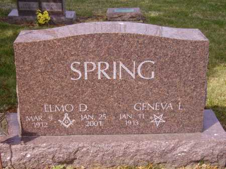 SPRING, ELMO D. - Franklin County, Ohio | ELMO D. SPRING - Ohio Gravestone Photos