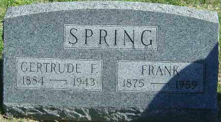 SPRING, FRANK - Franklin County, Ohio | FRANK SPRING - Ohio Gravestone Photos