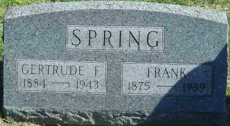 SPRING, GERTRUDE F - Franklin County, Ohio | GERTRUDE F SPRING - Ohio Gravestone Photos