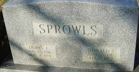 SPROWLS, DONALD L - Franklin County, Ohio | DONALD L SPROWLS - Ohio Gravestone Photos