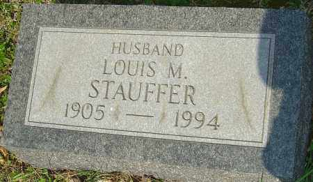 STAUFFER, LOUIS M - Franklin County, Ohio | LOUIS M STAUFFER - Ohio Gravestone Photos