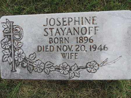 STAYANOFF, JOSEPHINE - Franklin County, Ohio | JOSEPHINE STAYANOFF - Ohio Gravestone Photos