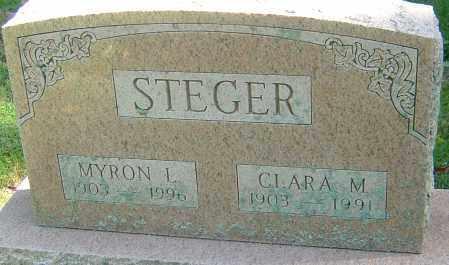 STEGER, MYRON L - Franklin County, Ohio | MYRON L STEGER - Ohio Gravestone Photos
