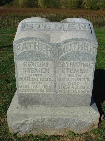 STEMEN, BENONI - Franklin County, Ohio | BENONI STEMEN - Ohio Gravestone Photos
