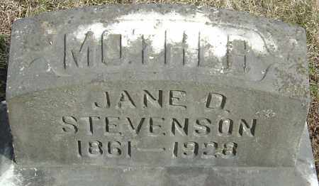STEVENSON, MARY JANE - Franklin County, Ohio | MARY JANE STEVENSON - Ohio Gravestone Photos