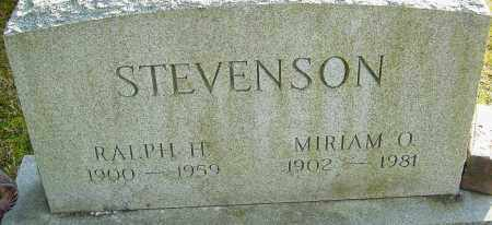 STEVENSON, MIRIAM - Franklin County, Ohio | MIRIAM STEVENSON - Ohio Gravestone Photos
