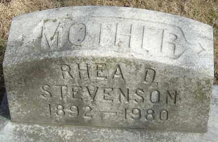 STEVENSON, RHEA D - Franklin County, Ohio | RHEA D STEVENSON - Ohio Gravestone Photos