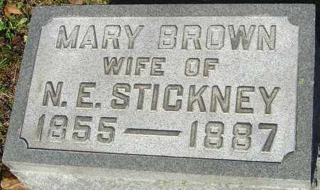BROWN STICKNEY, MARY - Franklin County, Ohio | MARY BROWN STICKNEY - Ohio Gravestone Photos