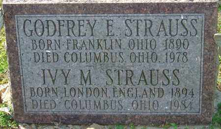 STRAUSS, IVY M - Franklin County, Ohio | IVY M STRAUSS - Ohio Gravestone Photos