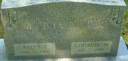 STRICKLER, GERTRUDE W - Franklin County, Ohio | GERTRUDE W STRICKLER - Ohio Gravestone Photos