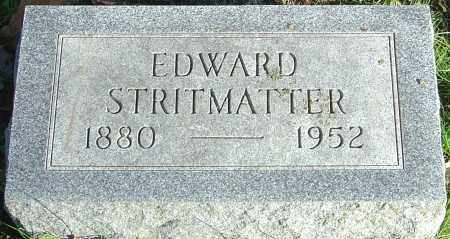 STRITMATTER, EDWARD - Franklin County, Ohio | EDWARD STRITMATTER - Ohio Gravestone Photos