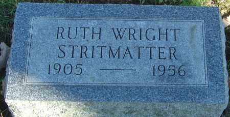 WRIGHT STRITMATTER, RUTH ADESTA - Franklin County, Ohio | RUTH ADESTA WRIGHT STRITMATTER - Ohio Gravestone Photos