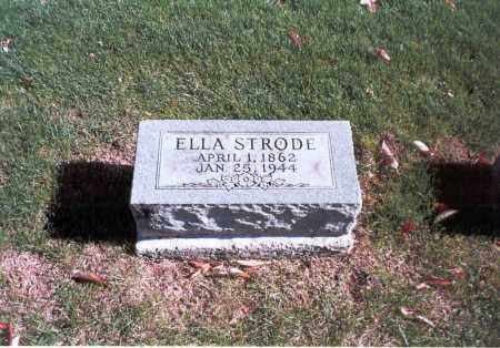 STRODE, ELLA - Franklin County, Ohio | ELLA STRODE - Ohio Gravestone Photos