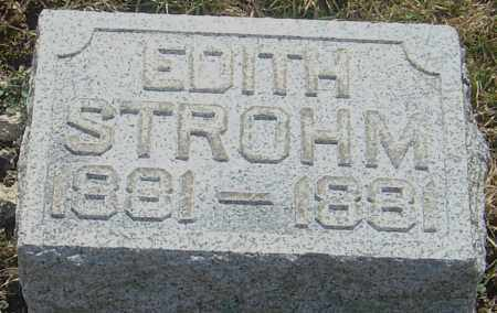 STROHM, EDITH - Franklin County, Ohio | EDITH STROHM - Ohio Gravestone Photos