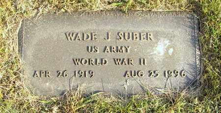 SUBER, WADE J. - Franklin County, Ohio | WADE J. SUBER - Ohio Gravestone Photos