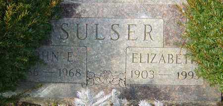 SULSER, ELIZABETH - Franklin County, Ohio | ELIZABETH SULSER - Ohio Gravestone Photos