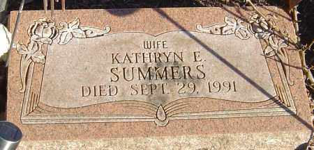 SUMMERS, KATHRYN E - Franklin County, Ohio | KATHRYN E SUMMERS - Ohio Gravestone Photos