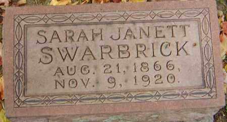 BUTLER SWARBRICK, SARAH JANETT - Franklin County, Ohio | SARAH JANETT BUTLER SWARBRICK - Ohio Gravestone Photos