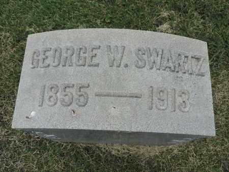 SWARTZ, GEORGE W. - Franklin County, Ohio   GEORGE W. SWARTZ - Ohio Gravestone Photos