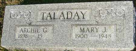 TALADAY, ARCHIE - Franklin County, Ohio | ARCHIE TALADAY - Ohio Gravestone Photos