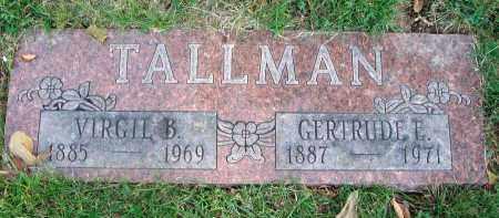 TALLMAN, VIRGIL B. - Franklin County, Ohio | VIRGIL B. TALLMAN - Ohio Gravestone Photos