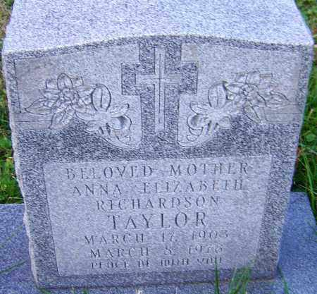 RICHARDSON TAYLOR, ANNA - Franklin County, Ohio | ANNA RICHARDSON TAYLOR - Ohio Gravestone Photos
