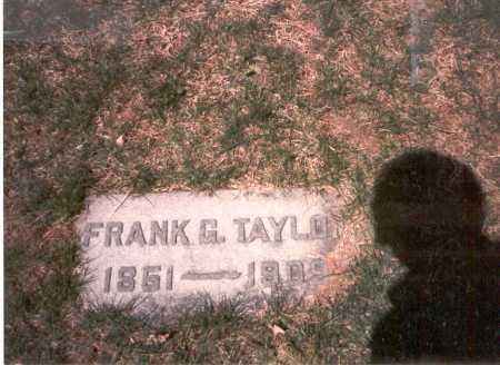 TAYLOR, DR. FRANK G. - Franklin County, Ohio | DR. FRANK G. TAYLOR - Ohio Gravestone Photos