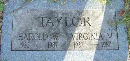 TAYLOR, VIRGINIA - Franklin County, Ohio | VIRGINIA TAYLOR - Ohio Gravestone Photos