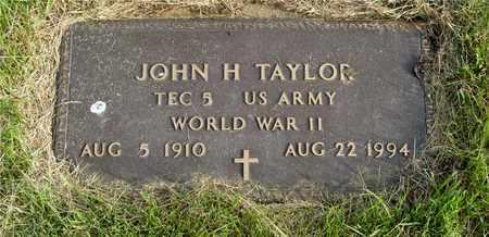 TAYLOR, JOHN H. - Franklin County, Ohio | JOHN H. TAYLOR - Ohio Gravestone Photos