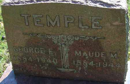 TEMPLE, GEORGE E - Franklin County, Ohio | GEORGE E TEMPLE - Ohio Gravestone Photos
