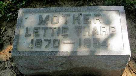 THARP, LETTIE - Franklin County, Ohio | LETTIE THARP - Ohio Gravestone Photos
