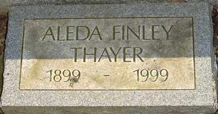 FINLEY THAYER, ALEDA - Franklin County, Ohio | ALEDA FINLEY THAYER - Ohio Gravestone Photos