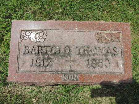 THOMAS, BARTOLO - Franklin County, Ohio | BARTOLO THOMAS - Ohio Gravestone Photos