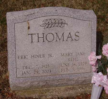 REHL THOMAS, MARY JANE - Franklin County, Ohio | MARY JANE REHL THOMAS - Ohio Gravestone Photos
