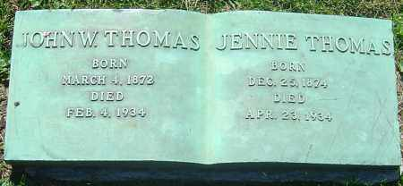 THOMAS, JOHN W - Franklin County, Ohio | JOHN W THOMAS - Ohio Gravestone Photos