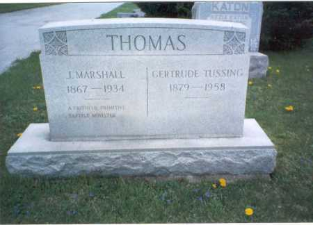 THOMAS, J.  MARSHALL - Franklin County, Ohio | J.  MARSHALL THOMAS - Ohio Gravestone Photos