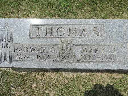 THOMAS, PADWAY G. - Franklin County, Ohio | PADWAY G. THOMAS - Ohio Gravestone Photos