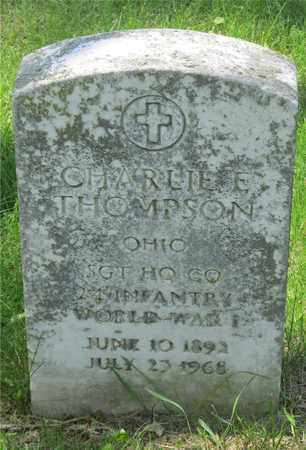 THOMPSON, CHARLIE E. - Franklin County, Ohio | CHARLIE E. THOMPSON - Ohio Gravestone Photos