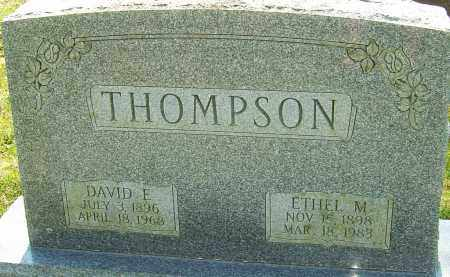 THOMPSON, DAVID E - Franklin County, Ohio | DAVID E THOMPSON - Ohio Gravestone Photos