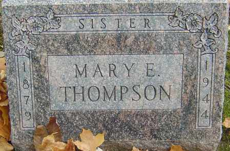 THOMPSON, MARY E - Franklin County, Ohio | MARY E THOMPSON - Ohio Gravestone Photos