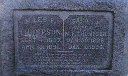 THOMPSON, SARAH J - Franklin County, Ohio | SARAH J THOMPSON - Ohio Gravestone Photos