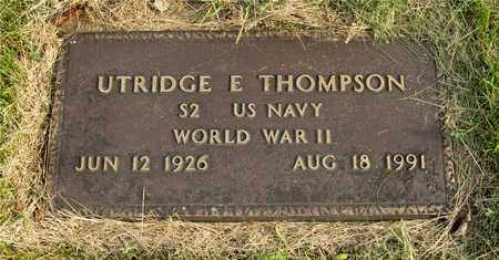 THOMPSON, UTRIDGE E. - Franklin County, Ohio | UTRIDGE E. THOMPSON - Ohio Gravestone Photos