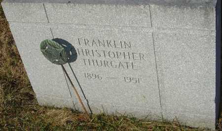 THURGATE, FRANKLIN - Franklin County, Ohio | FRANKLIN THURGATE - Ohio Gravestone Photos