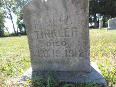 TINKLER, MARY A. - Franklin County, Ohio | MARY A. TINKLER - Ohio Gravestone Photos