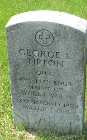 TIPTON, GEORGE L. - Franklin County, Ohio | GEORGE L. TIPTON - Ohio Gravestone Photos