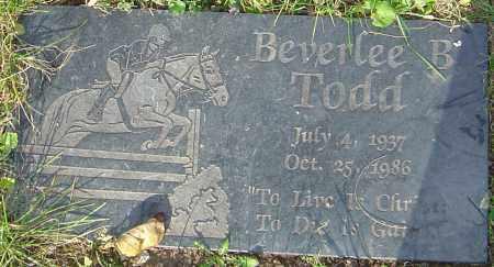 TODD, BEVERLEE - Franklin County, Ohio | BEVERLEE TODD - Ohio Gravestone Photos