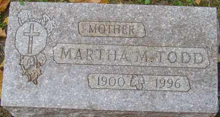 TODD, MARTHA M - Franklin County, Ohio | MARTHA M TODD - Ohio Gravestone Photos