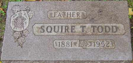 TODD, SQUIRE THOMAS - Franklin County, Ohio | SQUIRE THOMAS TODD - Ohio Gravestone Photos